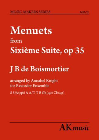 Boismortier Menuets front cover