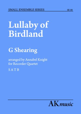 Lullaby of Birdland front cover